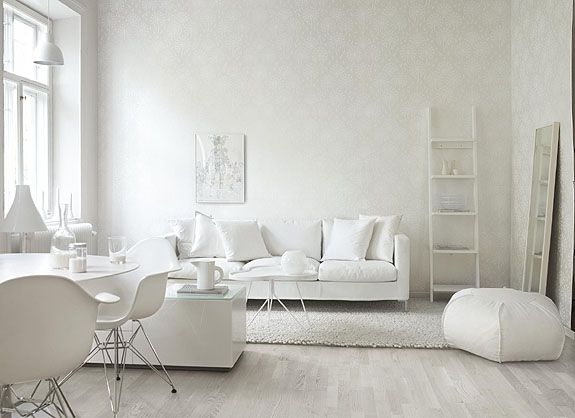 Finaste Huset: vit inredning är fint
