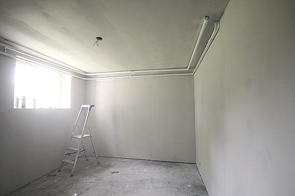 Måla vägg släpljus