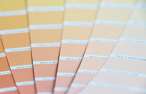 Inredning väggfärg pastell : fixa&dona   aprikos