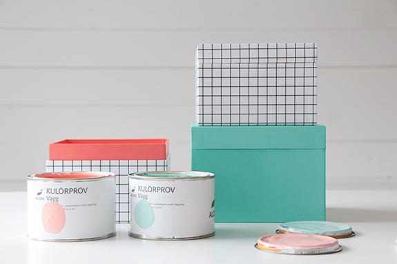 Inredning väggfärg pastell : fixa&dona | Pasteller i provburkar
