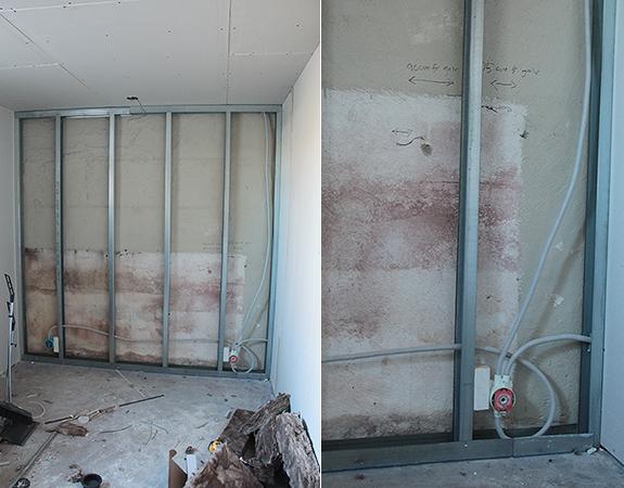 Regla innervägg källare
