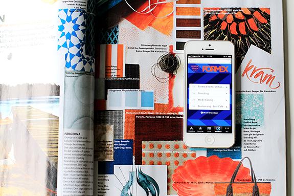 Ett uppslag ur Elle Interiör augusti 2013