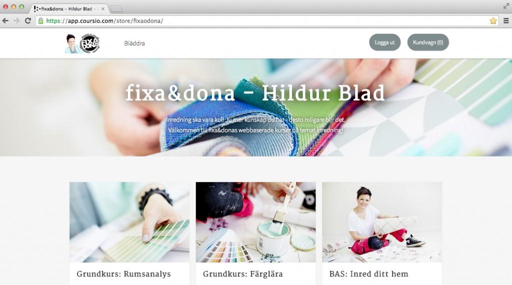 Lär dig mer om inredning - webbaserade kurser med fixa&dona