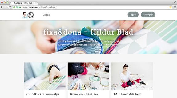Webbaserade kurser - lär dig mer om inredning med fixa&dona