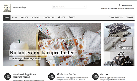Sandberg Tyg & Tapet - webbshop
