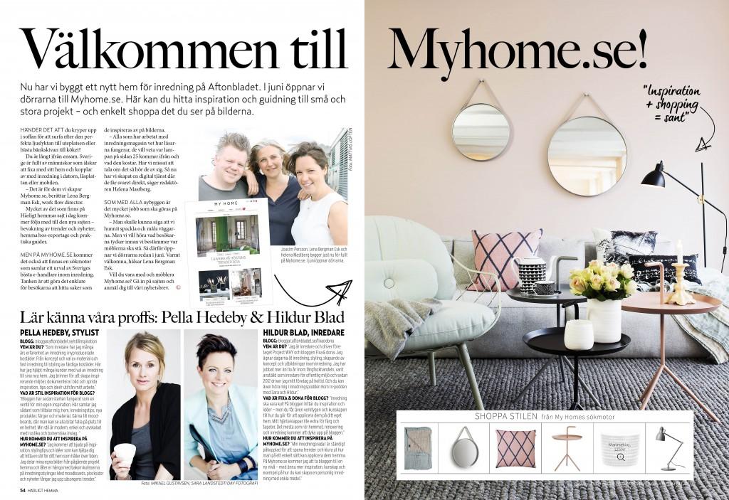 MY HOME - ny inredningssatsning från Aftonbladet - fixaodona.se
