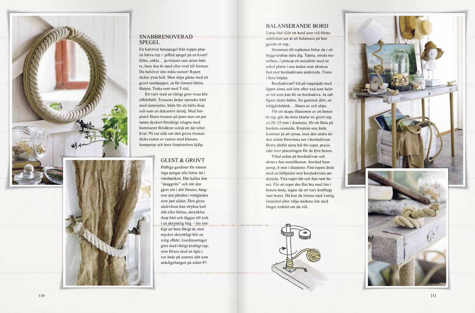 Ett uppslag ur boken Inred med marin inspiration av Anna Örnberg
