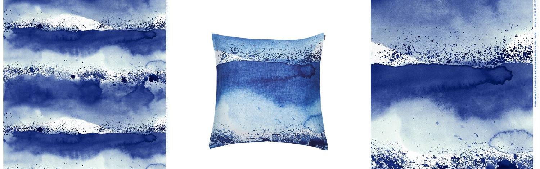 Textilier i blått - fixaodona.se