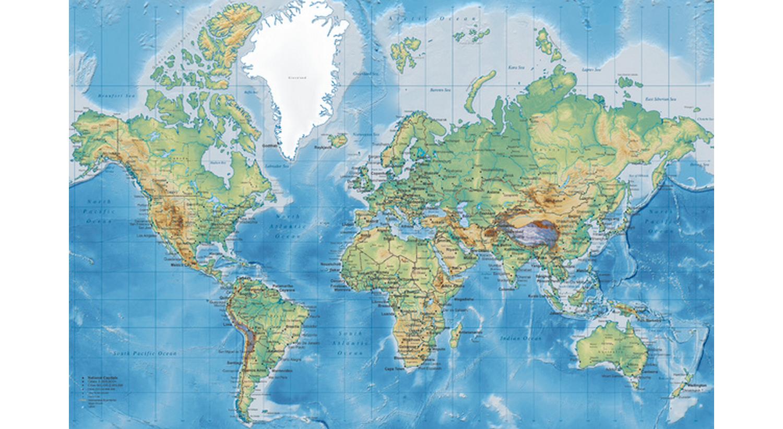 World Map Detailed från Photowall - fixaodona.se