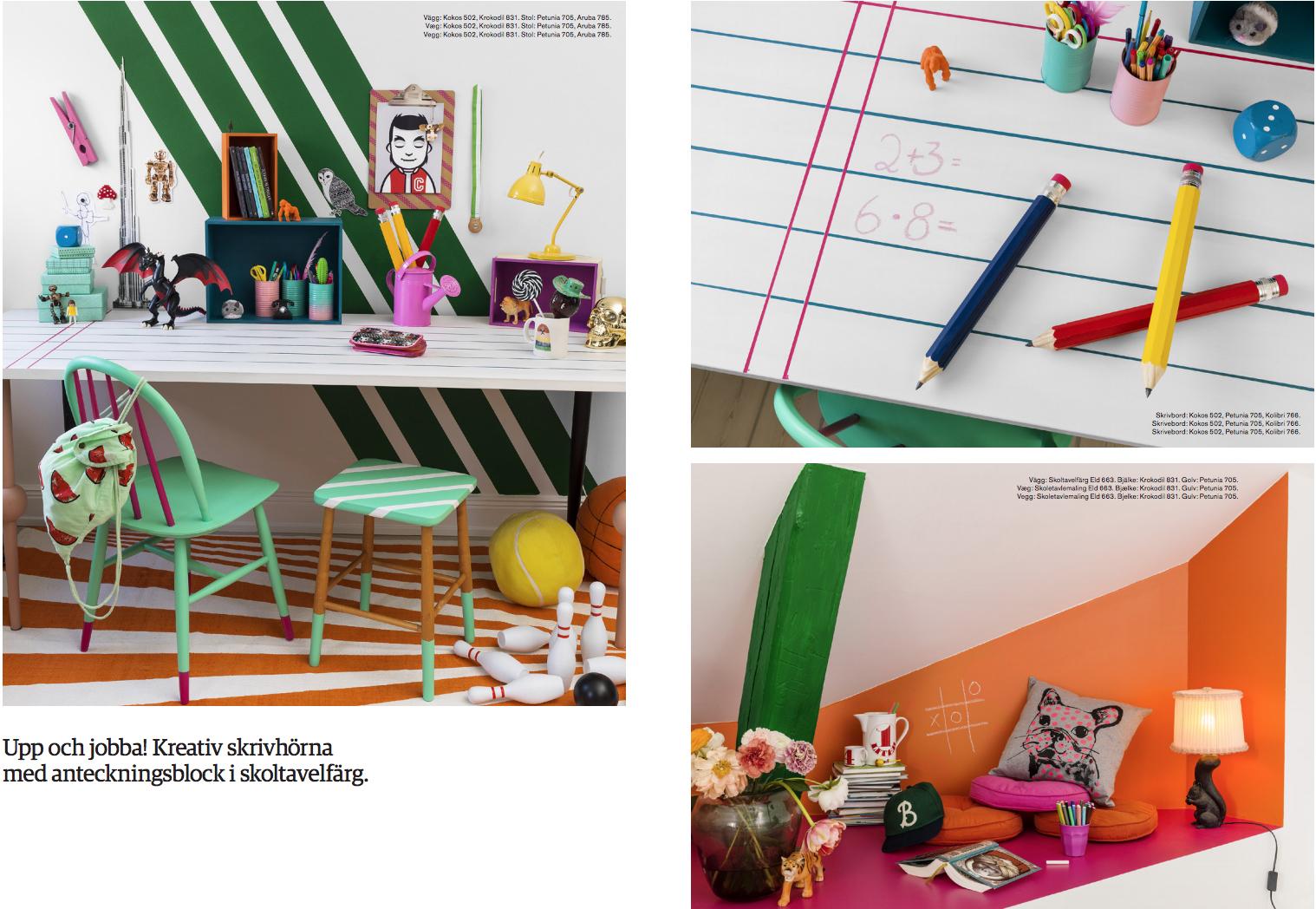Beckers skoltavelfärg och ny färgkarta för barnen - fixaodona.se