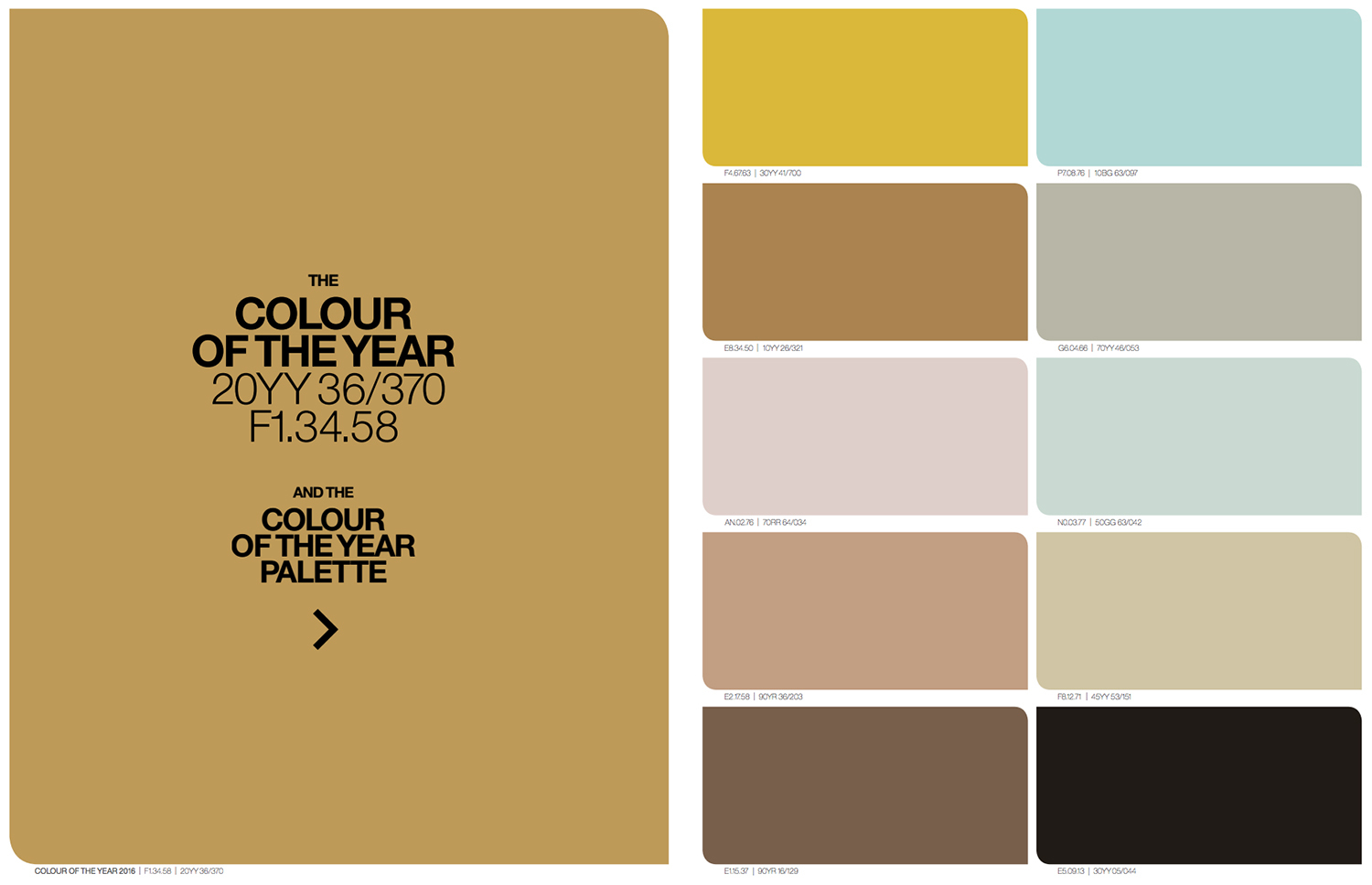 Colour of the year 2016 Färgkarta