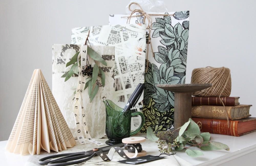 DIY: Gör presentpåse av tapet