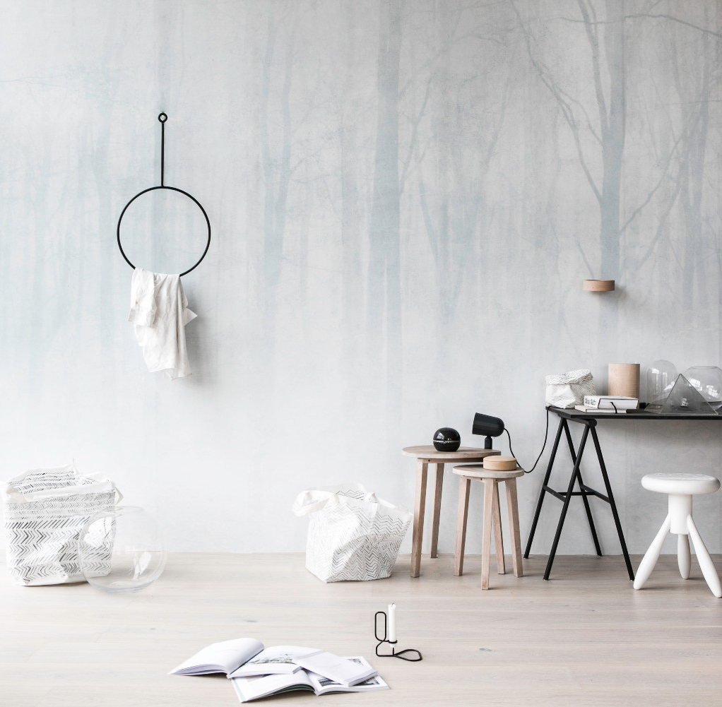 Sandberg Wallpaper Vinterskog - fixaodona.se