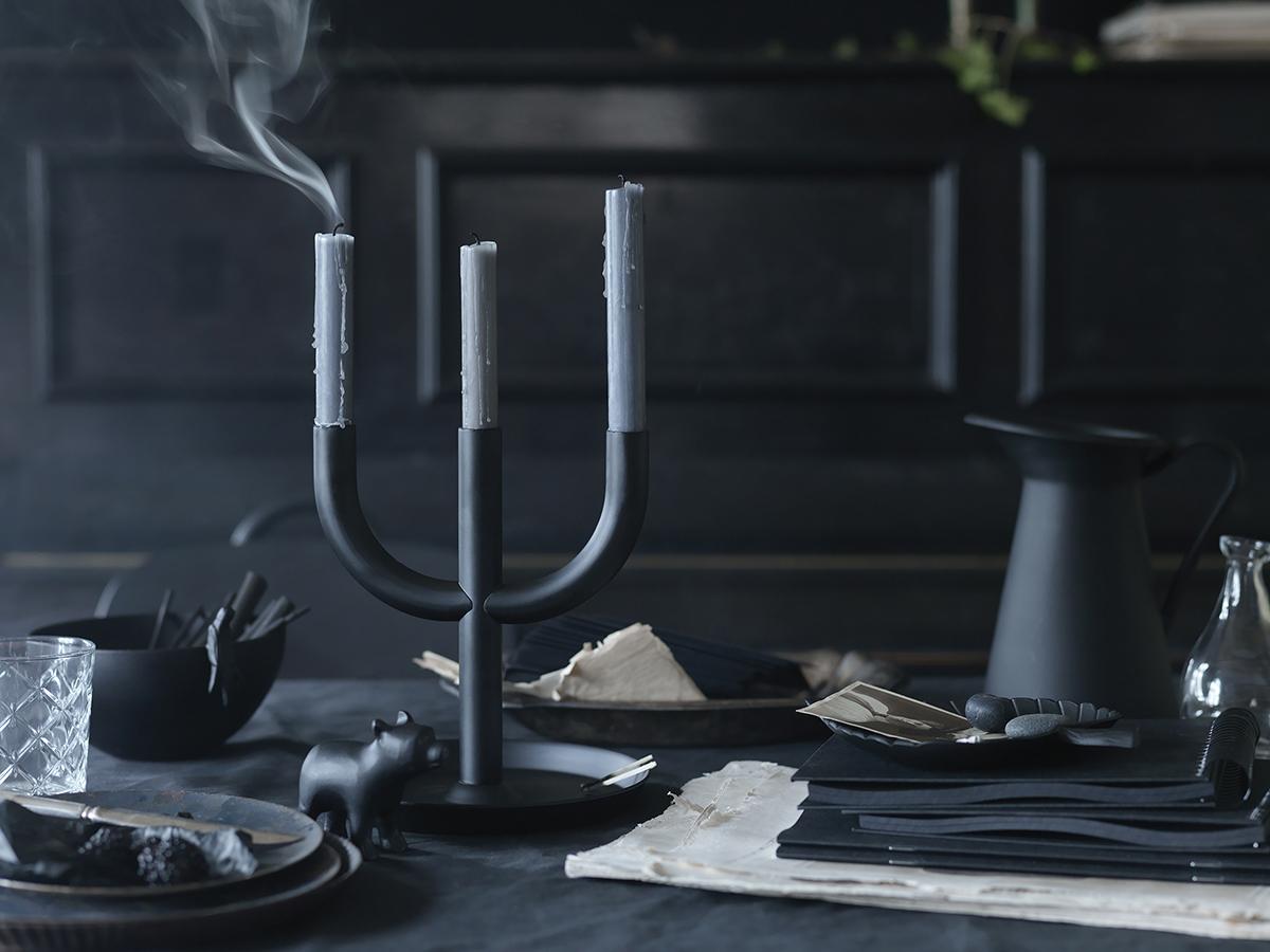 IKEA ENIGHET svart ljusstake
