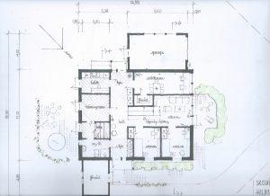 Villa Gläntan - plan 1 första versionen