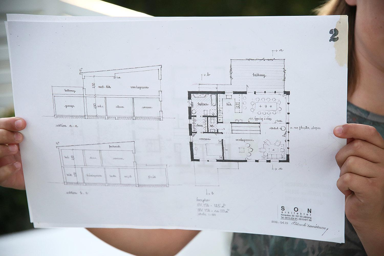 Villa Gläntan: Ritning version 1 plan 2