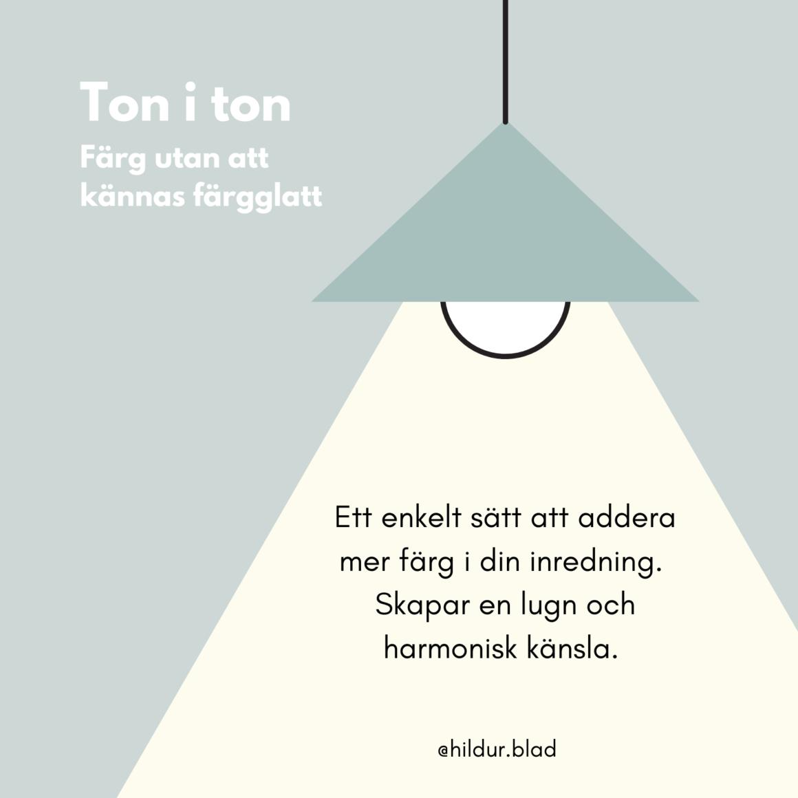 Välja färg på detaljer - ton i ton - hildurblad.se