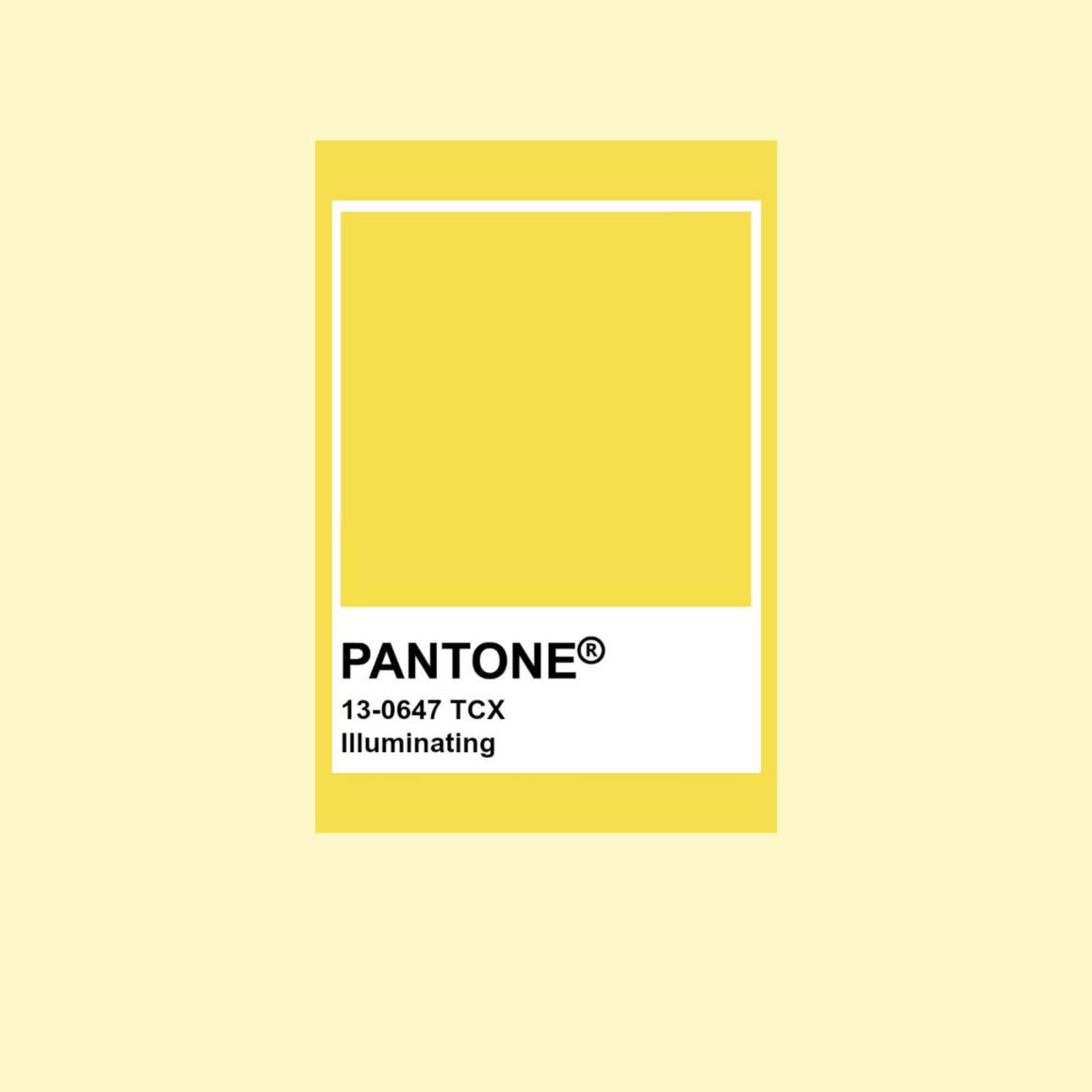 Pantone årets färg 2021 Illuminating 13-0647