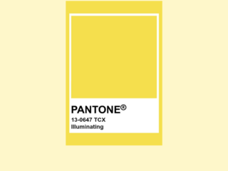 Pantone Color of the Year - Illuminating 13-0647