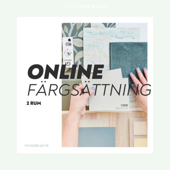 Färgsättning ONLINE 2 rum - hildurblad.se