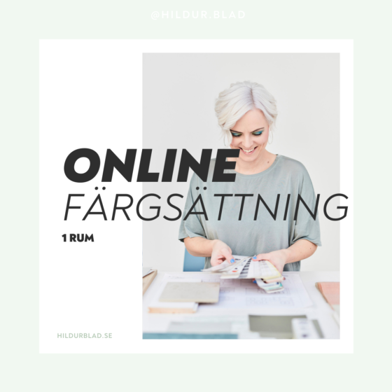 Färgsättning ONLINE 1 rum - hildurblad.se